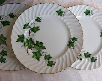 Set of 3 Swinnerton\u0027s Staffordshire England Dinner Plates Ivy Pattern Ironstone & English ivy plates | Etsy