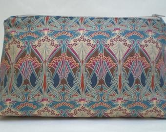 Liberty Fabric  Make Up Bag 'Ianthe Bronze
