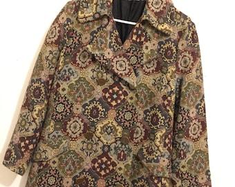 Vintage 70s Tapestry Coat