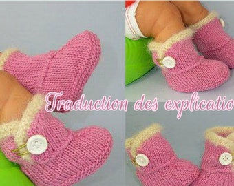 Translation of baby booties pattern