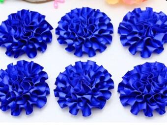 set of 5 flower diameter about 5 cm satin applique