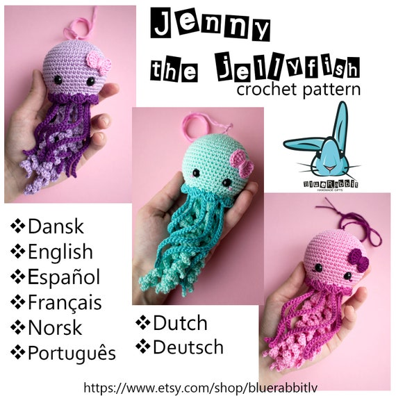 Jenny The Jellyfish Amigurumi Crochet Pattern Languages English
