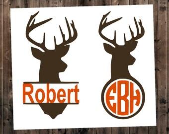 Deer Decal, Deer Car Decal, Deer Name Decal, Yeti Deer Decal, Deer Monogram Decal, Deer Sticker, Hunting Decal, Deer Sticker, Hunting Decal