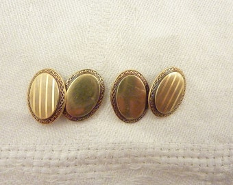 Antique Victorian 14K Gold Cuff Links
