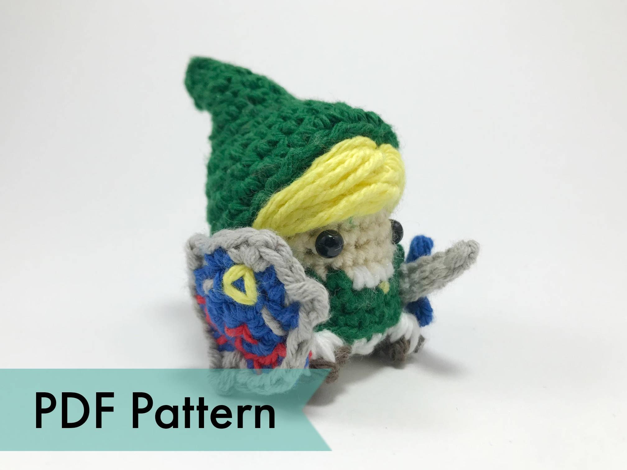 Link aus Legend of Zelda gehäkelte Amigurumi Finger Marionette