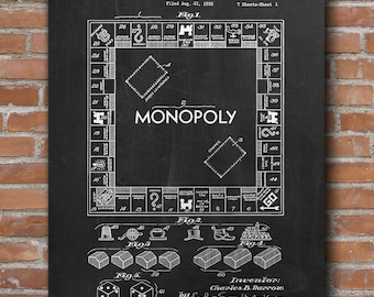 Monopoly patent art etsy popular items for monopoly patent art malvernweather Choice Image