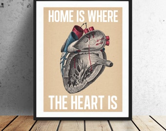 Home is where the heart is.  - Print,  Instant download