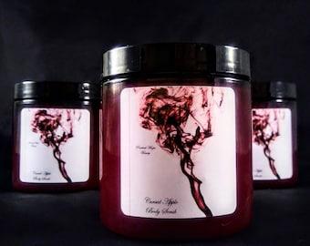 Sea Salt Scrub - Salt Scrub - Dead Sea Salt Scrub - Red Apple Soap - Body Scrub - Shower Scrub - Gifts For Her - Cursed Apple Scrub