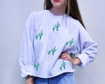 Glitter Cactus Boxy Sweater