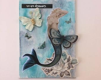 Mermaid Dreams - Mixed Media - Watercolor