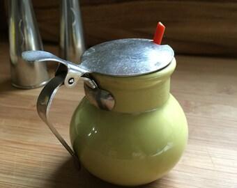 Mustard jar and spoon - Scandinavian Mid Century