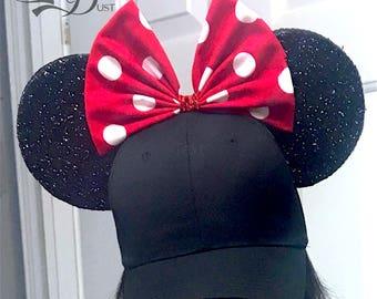 Minnie Mouse Ears Baseball Cap!