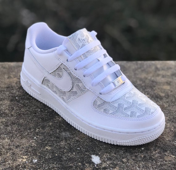 Nike x Goyard (White) Custom Sneaker | Air Force 1's | | Nike AF1 Low | Custom  Nike | Custom Sneaker | Goyardine | Chevron