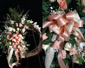 Grapevine Wreath Sympathy Easel