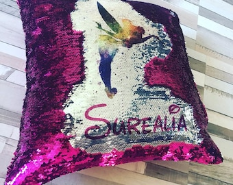 Any text sequin cushion!