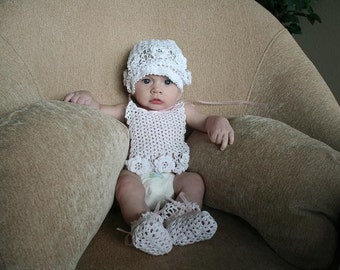 Crocheted baby gift set