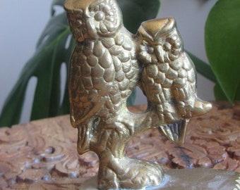 Small brass owls trinket