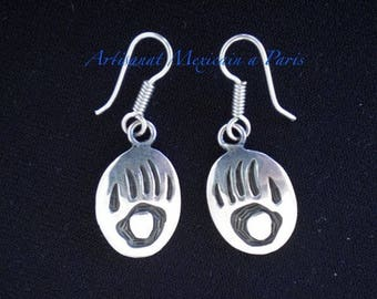 Handmade in silver, Mexican, Indian earrings