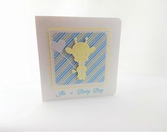 Giraffe baby boy card, its a boy, new baby boy, giraffe new baby, card, baby boy, welcome new baby, welcome baby boy, welcome little one