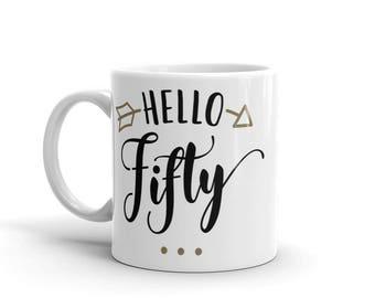 Hello Fifty Mug