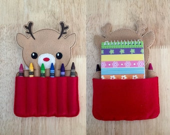 Rudolph Crayon Holder AND Notebook Holder