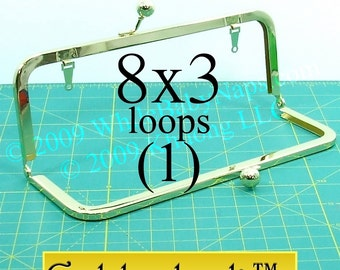 Goldenlock(TM) 8x3 purse frame with LOOPS
