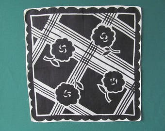 HANKY BOLD GRAPHICS Black and White 1960s