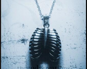 Anatomical Rib Cage Pendant