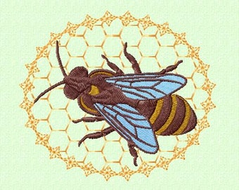 Embroidery pattern - honey bee