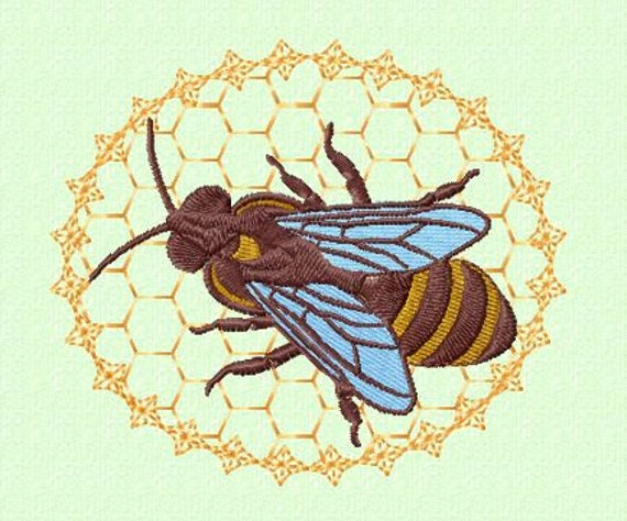 Embroidery Pattern Honey Bee