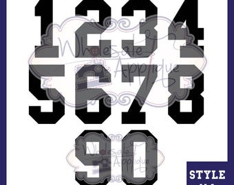 "GLITTER - 8"" Numbers - Collegiate Font - *HTV* - Iron on Heat Transfer Vinyl - Cut Vinyl Applique Design"