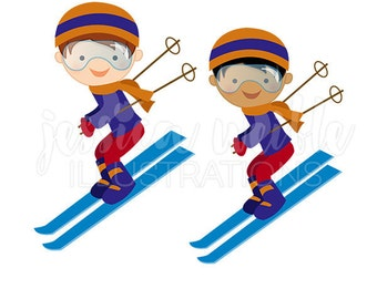 skiing clipart etsy rh etsy com skiing clipart images skiing clip art free