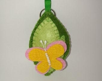 handmade butterfly key chainr from felt