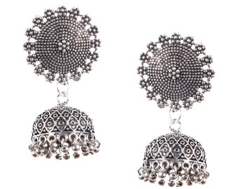 Fashion Silver Plated Dangle & Drop Earrings Jhumki For Women