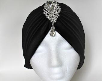Turban Cap, Black Turban, Turban Headwrap, Stylish Turban, Turban Hat, Bollywood Hat, Performance Hat, Dance Hat, Dance Turban, Beach Hat