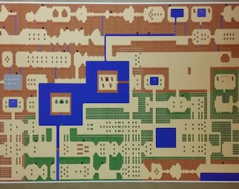 Zelda map etsy zelda gigantic 50 x 24 poster print legend of zelda classic nes high detail gumiabroncs Images