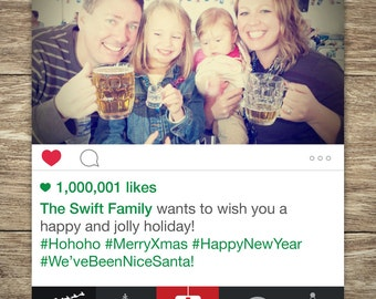 Social Media Merry Christmas card, Happy New Year Card, Holiday Photo Card, Happy Holiday, Holiday Greetings, Xmas, HIGH-QUALITY PDF