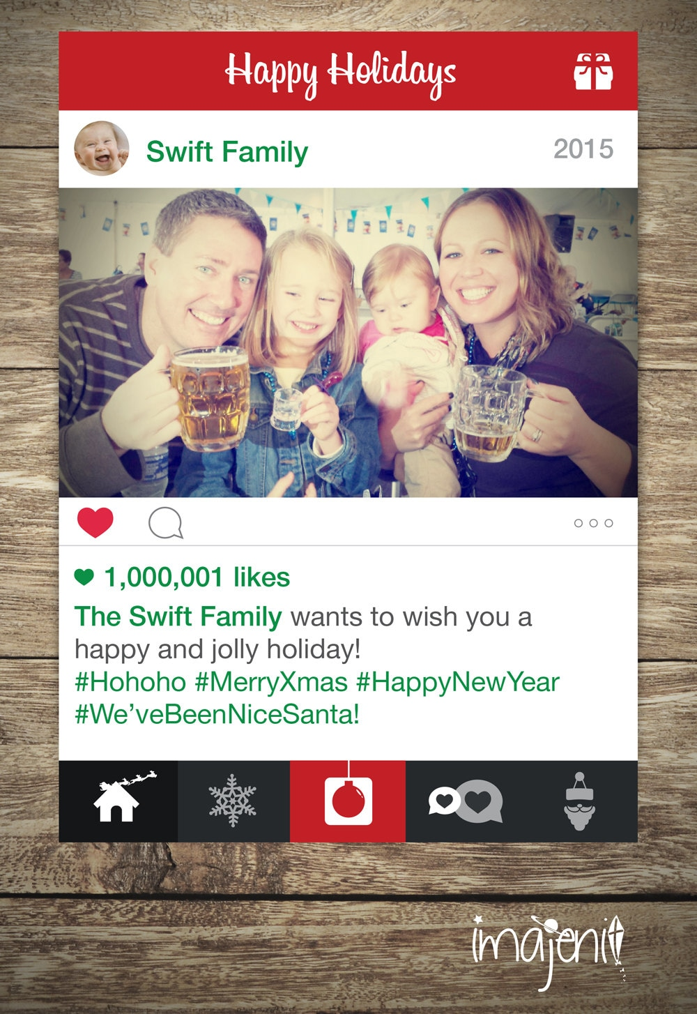 Social media merry christmas card happy new year card zoom kristyandbryce Images