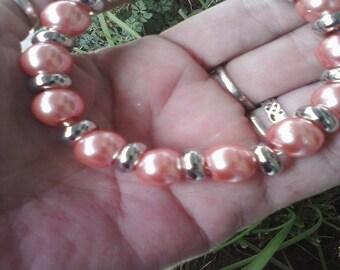 Pink Spun Sugar, Euro style bracelet