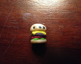 Polymer Clay Kawaii Cheeseburger