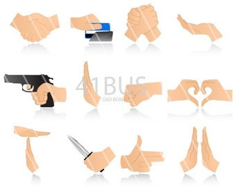 Hands Icons , hands clipart and gesture