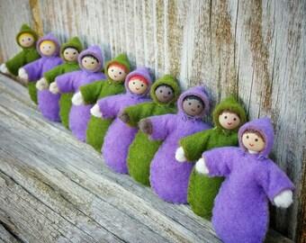 Dollhouse Baby - Miniature Baby Doll - Mini Doll - Bendy Doll - Dollhouse Family - Baby Doll Dollhouse - Black Doll - Asian Doll