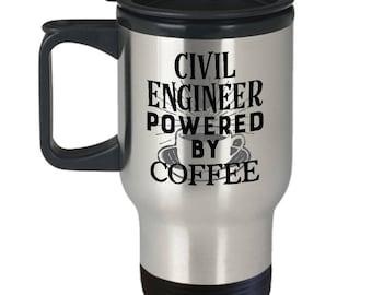 Civil Engineer Travel Mug, Funny Engineering Coffee Mugs, Tea Cup, Gifts for Husband or Wife, 11oz