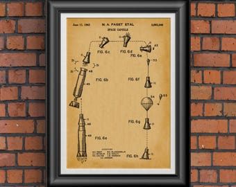 Astronaut Space Gift for Him * Space Gift for Men * NASA Rocket Ships * Space Wall Prints * Man Cave Nerd Gift Geek Dad Gift Ideas PP 6059