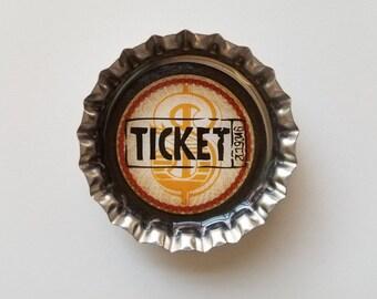 Unique vintage gift circus bottle cap magnets set refrigerator fridge kitchen ticket