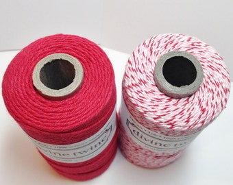 FULL SPOOLS - Divine Twine - Holiday Sampler - Two Colors - Your Choice of Holiday - 480 Yards Total