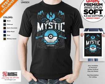 T Shirt of my Team Mystic Blue Ice PG game art clothing design for Men and Women by Barrett Biggers