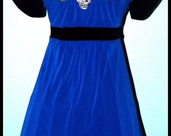 Day of the Dead Royal Blue Dress....Size M