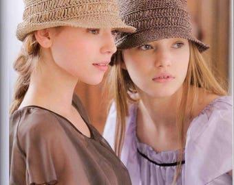 SH01 - Crochet cowgirl raffia hat, translate English written, Japanese pattern PDF