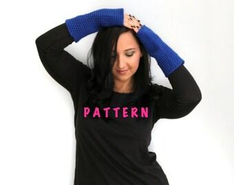 Crochet Fingerless Gloves Pattern, PDF Download PATTERN, Astor Long Wrist Fingerless Gloves Pattern